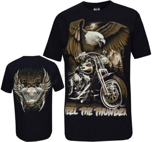 Eagle Biker Native American Indian Motorbike Motorcycle Thunder T Shirt M-3XL