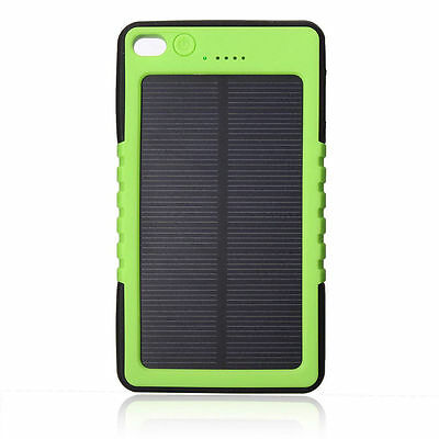8000mAh Mobile Solar Charger External Battery Portable Power Bank for iphone HTC