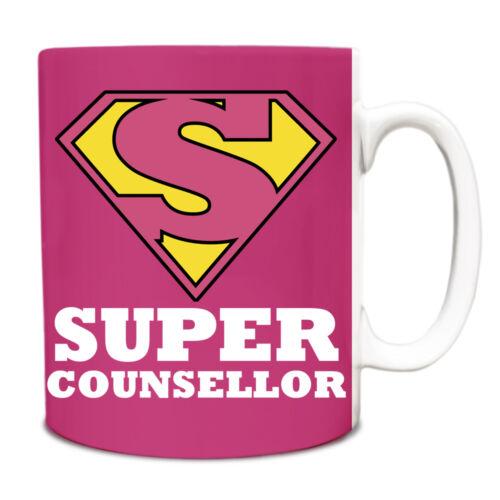 Pink Super conseiller Hero Nouveauté titre du poste Tasse Drôle 049