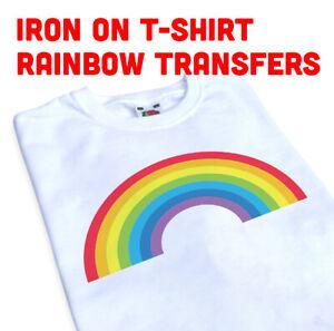 Rainbow  with hearts t-shirt transfer