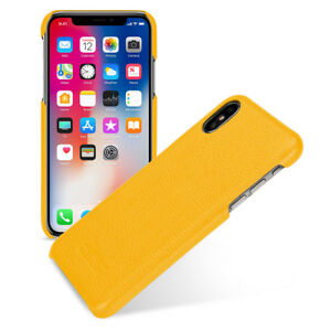 negozio online 2fc09 09f73 Details about TETDED Premium Leather Case for Apple iPhone X -- Caen (LC:  Yellow)