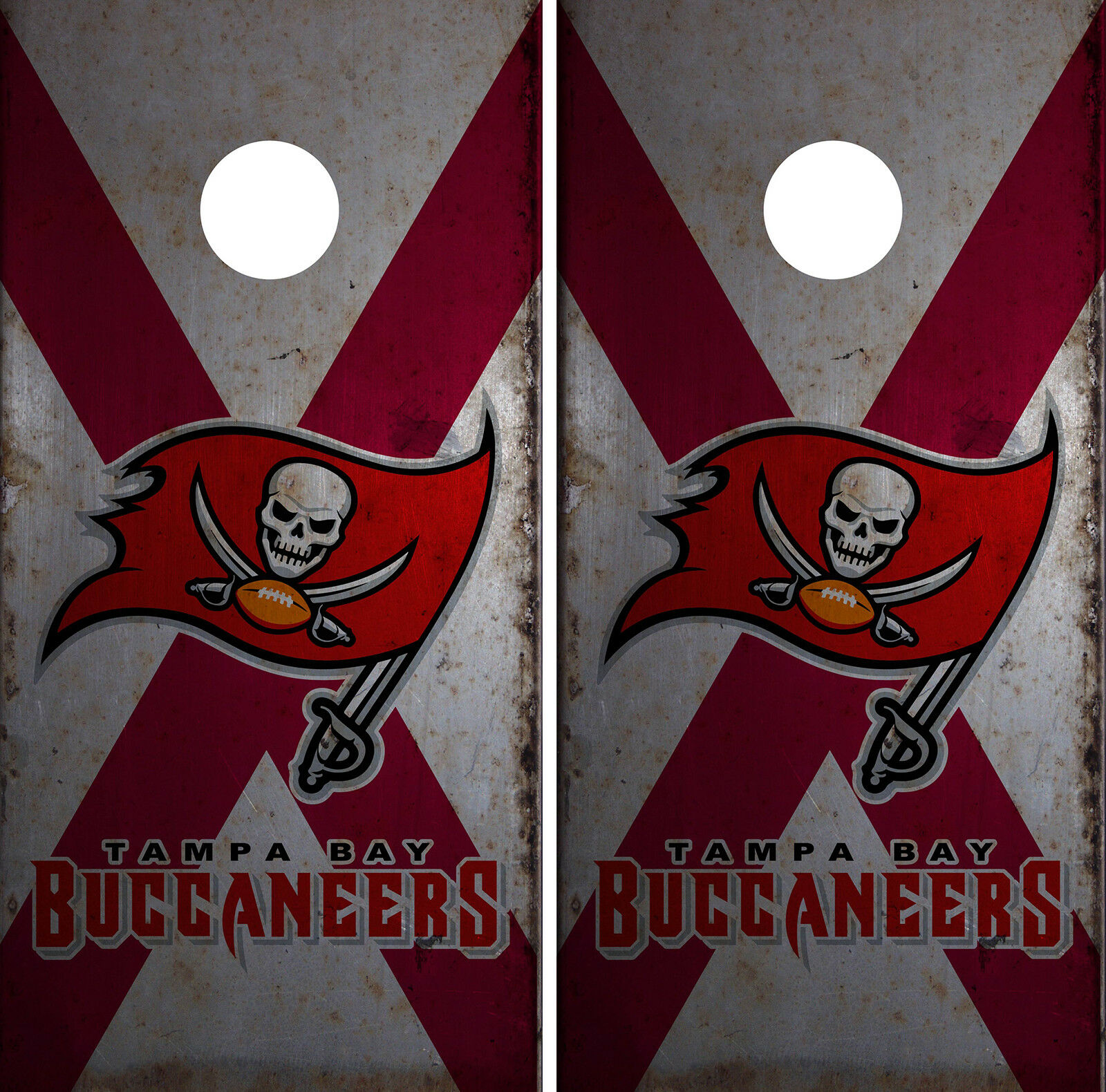 Tampa Bay Buccaneers Cornhole Wrap NFL  Skin Game Board Set Vinyl Decal CO19  sell like hot cakes