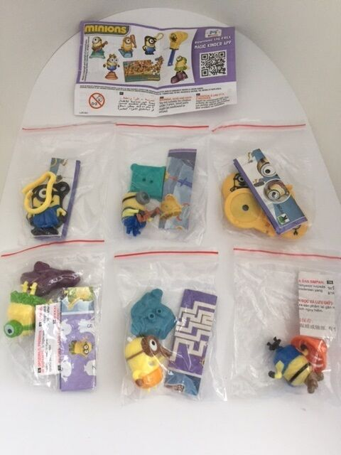 Kinder Surprise MINIONS GIRLS Limited Edition Set Of 6 INDIA Rare 2015 2016