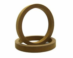 1-Pair-Wood-MDF-Speaker-Spacer-Rings-5-25-034-Fiberglass-Door-Kick-Pods-5-1-4-Inch