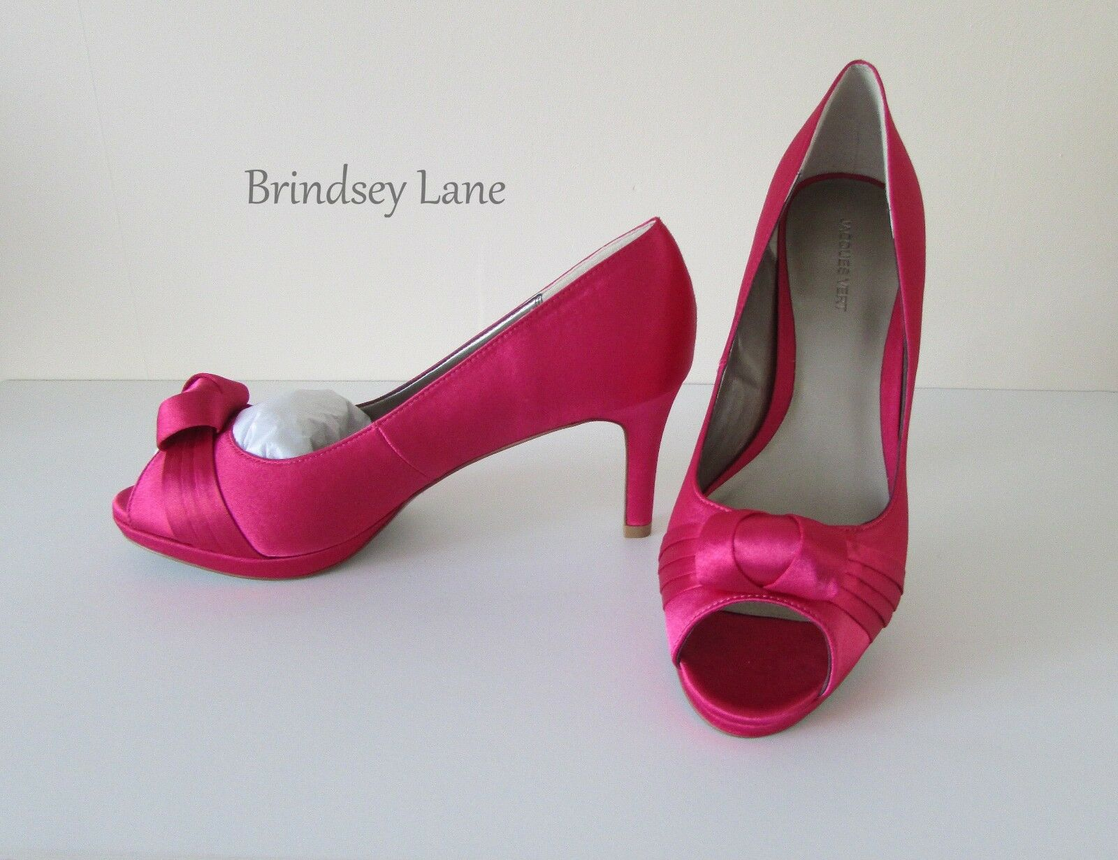 New Jacques green Curl Trim Bright Pink Court shoes  5 39  BNWB @      RR