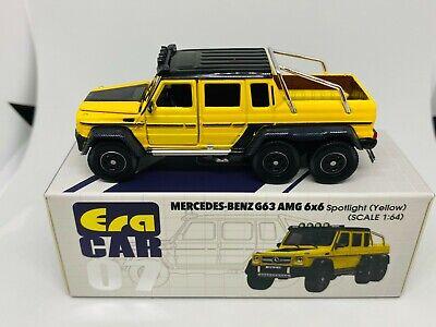 ° Era car 06 mercedes benz g63 AMG 6x6 verde escala 1:64 maqueta de coche nuevo