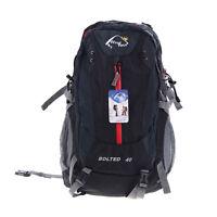 Black Windtou 40l Hiking Rucksack Backpack Bag With Rain Cover Mesh Side Pockets