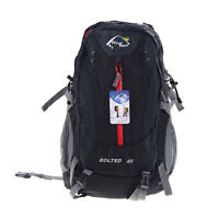 Black Windtou 40l Hiking Rucksack Backpack Bag With Rain Cover Mesh Side Pockets