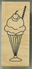 Great Impressions / Vicki Schreiner -  Rubber Stamp - Ice Cream Sundae - E539