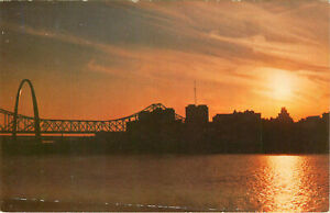 Postcard-St-Louis-Industrtial-Skyline-at-Dusk-St-Louis-MO