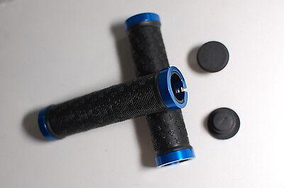 1 Paar Lenkergriffe mit Schraubklemmung sw-blau 115g