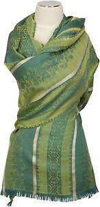 Sciarpa verde seta verde seta jacquard preziosa seta di Echarpe Foulard Sciarpa di 6q6t0rw