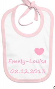♥ Baby Lätzchen mit Namen Geschenk Geburt Taufe Unikat bedruckt ♥