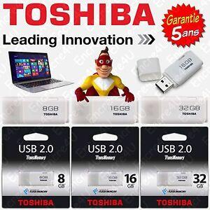 Cle-USB-TOSHIBA-8-16-32-Go-Gb-Giga-Vitesse-Ecriture-5-MB-s-Lecture-18-MB-s