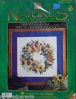 Nature's Window – Vintage Cross Stitch Kit – Wildflowers – Size 13 X 13