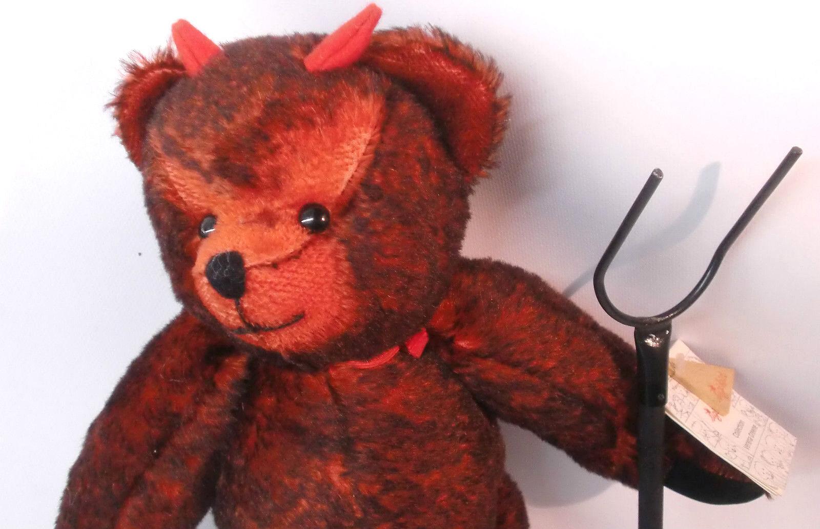 Teddy-Orso künstlerbär SIGIKID diavolo Limited Verena verdee n. 0026 DA COLLEZIONE Rar