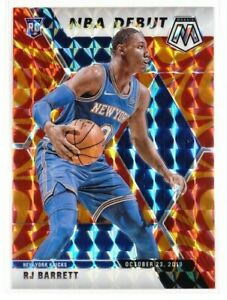 2019-20-Panini-Mosaic-RJ-Barrett-NBA-Debut-Orange-Reactive-Prizm-Rookie-RC