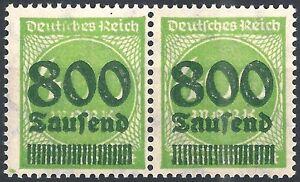 Ziffer-im-Kreis-MiNr-306-III-im-Paar-Infla-Berlin-und-034-I-034-III-geprueft-postfr