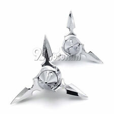 Chrome Spun Blade Spinning Axle Caps For Harley Electra Glide Ultra Classic FLHT