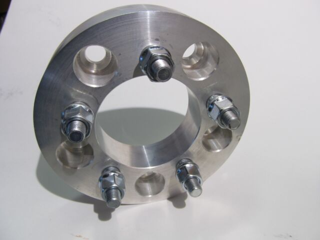 """5x120 to 5x4.5 or 5x120 to 5x114.3 Wheel Adapters 1.25"""" Thick Billet Rim Spacers"""
