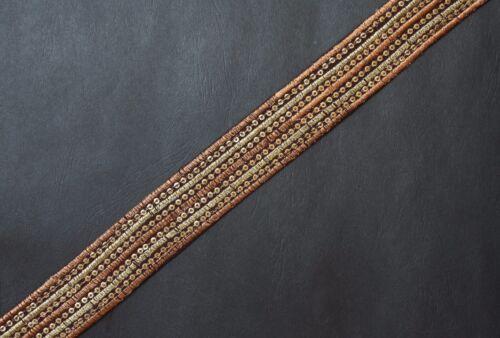 "JASDEE Vintage Border Trim Ribbon 1-1//4/""Width ZariEmbriodery Sequins Style A1243"