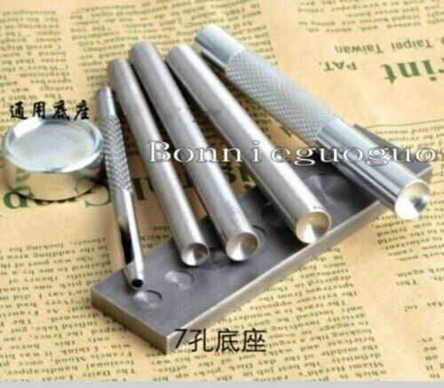 Leather Single Cap DOMED Rivets Rapid or 6//7//8//9mm Setter Tools for you pick