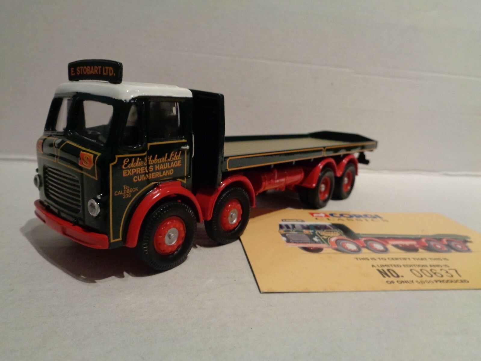 Corgi Model --No 24402  Eddie Stobart.  Leyland Octopus Flatbed Lorry