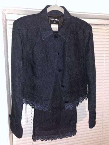 Chanel Linen Tweed 2 Piece Suit