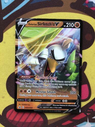 Pokemon Galarian Sirfetch'd V SWSH043 Black Star Promo Standard Size