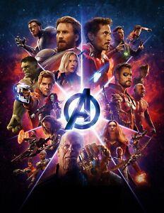 Avengers-Infinity-War-Movie-Poster-16x20-Marvel-Assemble-Thanos-Hulk-Thor