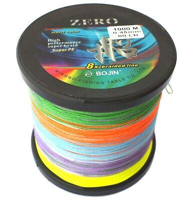 1000m 15lb Braid Fishing Line Spectra Dyneema Deep Drop Jigging Leader Fluoro