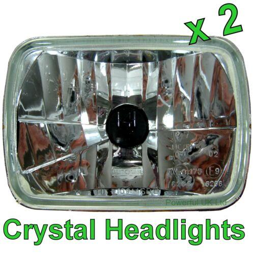 Pair of Halogen Crystal Headlamps for Toyota Hilux Mk2 RHD Headlight H4 pickup