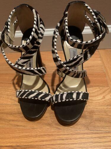 JIMMY CHOO Zebra Print Heels/Shoes Size 39 Zebra P