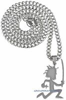 Juggalo Necklace Small Ninja Pendant With 24 Inch Cuban Style Chain Insane