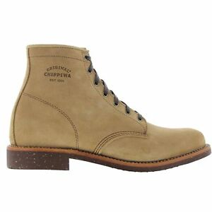Details zu Chippewa 1901G27 Khaki Mens Lace up Service Plain toe Suede Leather 6 Inch Boot