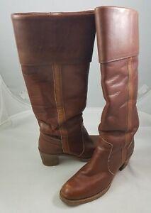 Details zu Vintage Frye Stiefel Damen 7 Hoch Kniehoch Leder USA Handgefertigte