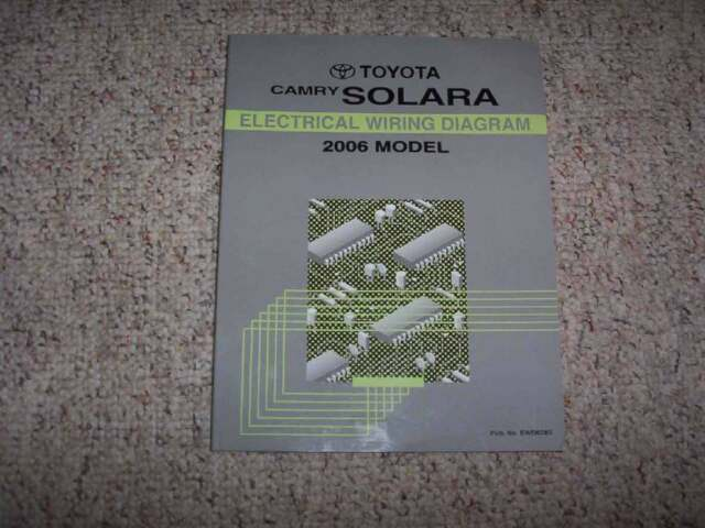 2006 Toyota Camry Solara Electrical Wiring Diagram Manual