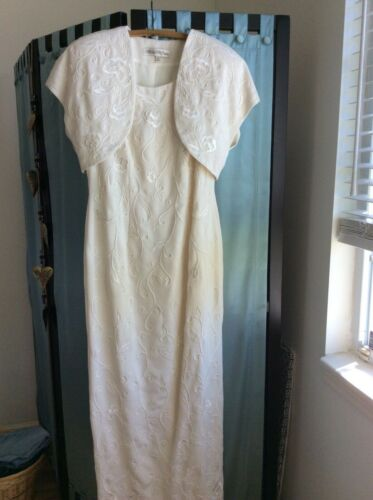 Vintage Marie St. Claire dress Gown Jacket Formal