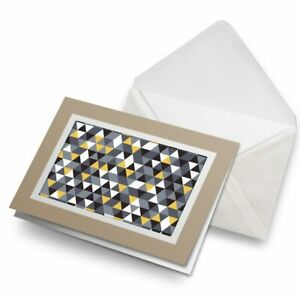 Greetings-Card-Biege-Yellow-Grey-Black-Triangle-Pattern-24585