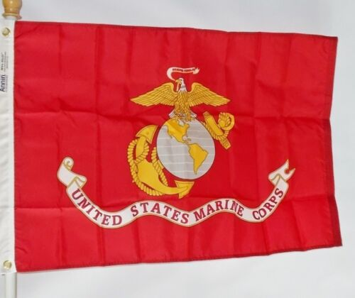 US MARINES 3X5/' NYLON FLAG MADE IN THE USA OFFICIALLY LICENSED BY US MARINE CORP