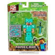 Minecraft overworld Steve Diamond Armadura De 3 Pulgadas Figura-Articulado Nuevo En Caja