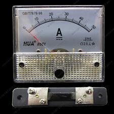 Dc 50a Analog Ammeter Panel Amp Current Meter 85c1 Gauge 0 50a Dc Shunt