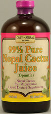 Pure Nopal Cactus Juice, Only Natural, 32 oz