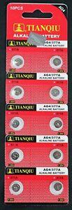 10-LR66-AG4-376-377-LR626-1-5V-Alkaline-Battery-Watch-Exp-2021-USA-SHIP