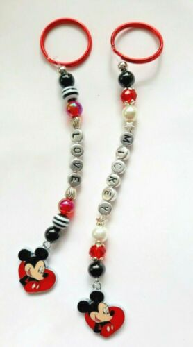 you chose the name 2 designs Personalised Mickey Mouse keyring // bag charm