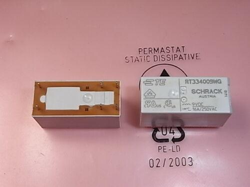 Rt334009wg 3-1415538-1 Relais Relay Bobine Coil Voltage 9 V 16 A 250 V SCHRACK