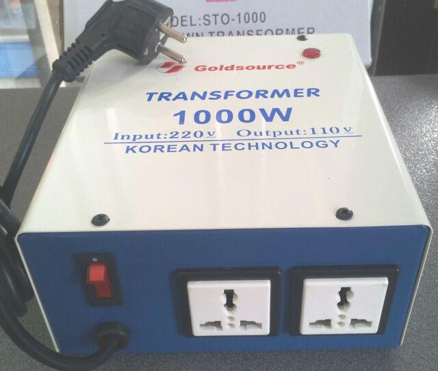 NEU SPANNUNGSWANDLER 1000 Watt USA Transformator 230V-110V  Converter 1000W 100V