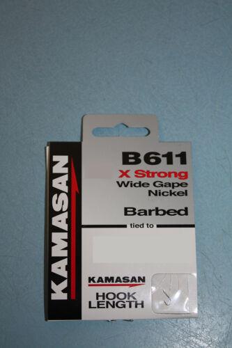 Kamasan crochets pour nylon x-strong B611 barbelé ou sans ardillon taille 14,16,18,20,22 neuf!