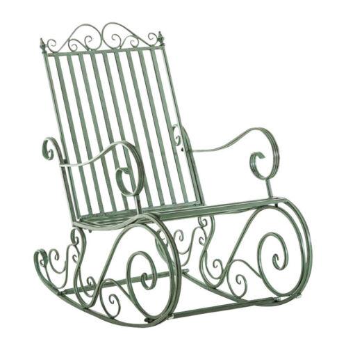 Chaise jardin bascule SMILLA fauteuil métal vintage terrasse extérieur vieilli