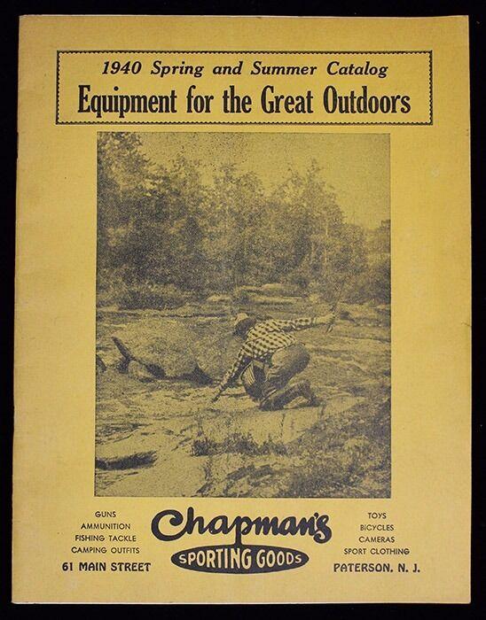 Gran 1940 Sporting mercancías catálogo para Chapman's de Paterson, Nueva Jersey